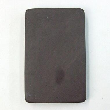 端渓麻子坑長方淌池硯4.0吋『硯石写経本石木箱書道用品』