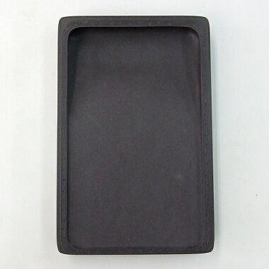 端渓麻子坑長方尚池硯6.0吋『硯石端渓硯本石木箱書道用品』送料無料