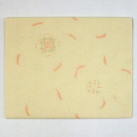 半切 大観 染 折枝吉祥柄印刷 薄黄 10枚 漢字用 加工紙 『条幅 書道用紙 書道用品 画仙紙』
