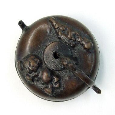 銅製水滴丸獅子高岡銅器『水差し書道用品』