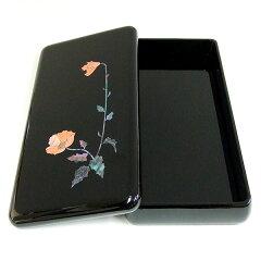 漆塗り硯箱螺鈿けし4.0寸(横幅12.5cm)高岡漆器