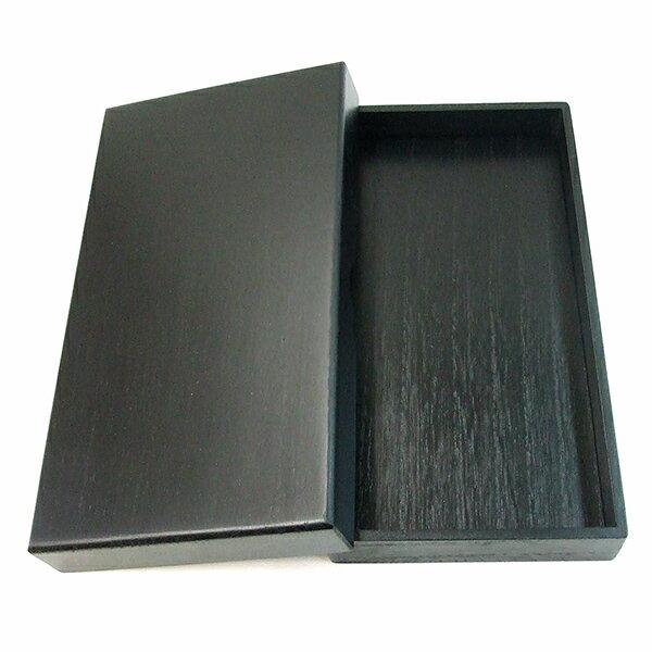 桐製硯箱 黒 5.5寸長 (横幅16.5cm) 『書道用品 整理箱』