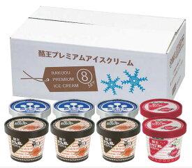 【お歳暮】【送料無料】酪王乳業 酪王プレミアムアイスクリームギフト 8個セット 産地直送 ギフト