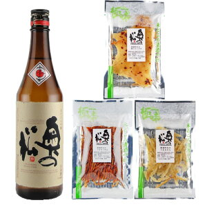 日本酒 ギフト 奥の松 あだたら吟醸 720ml&清酒漬け珍味3種セット