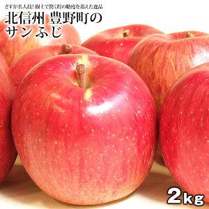 北信州産 豊野町のワケあり樹上完熟りんご サンふじ 約2kg[5〜8玉][2箱購入で1kgおまけ][3箱購入で2箱おまけ][常温]【送料無料】