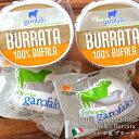 [冷凍配送不可]Garofalo社 イタリア産 水牛のモッツアレラチーズ&ブラータ125g×各2個セット航空便のスケジュールに…