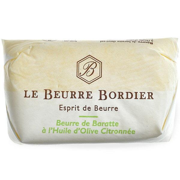 フランス産 ボルディエ[Bordier]バター オリーブオイル&レモン125g[冷蔵/冷凍][賞味期限:2019年4月29日]【1〜2営業日以内に出荷】