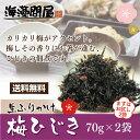 梅ひじき2袋セット送料無料 ふりかけ 生ふりかけ ひじきご飯 ひじき ヒジキ 海藻