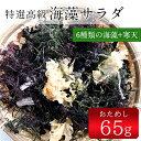 海藻サラダ65g(乾燥タイプ) 無添加食品 ダイエット 低カロリー 自然食品 ミネラル 海藻サラダ 海藻【20pi】