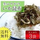 いか昆布3袋セット ぽっきり 送料無料 ふりかけ 生ふりかけ 昆布 いか 海藻