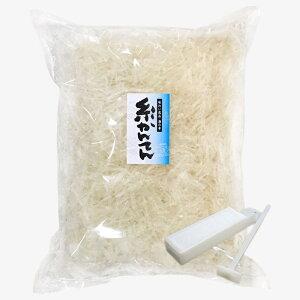 寒天 糸寒天 500g 中国原料使用 【ところてん突き棒付】 チャック袋付 国内包装 保存食
