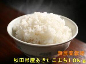 【新米】【送料無料】【無農薬玄米】【令和2年産】【秋田県産】安心で美味しいあきたこまち10kg