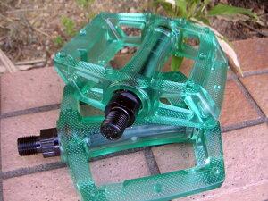 Z-PLUSクリア樹脂ペダル1ピース用・クリアグリーン