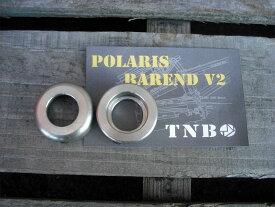 BMX 自転車 バーエンド TNB Polaris barend V2 Stainless ステンレス バーエンド MTB フラット バーエンド 大きめ バーエンド ハンドル はし【メール便可能】