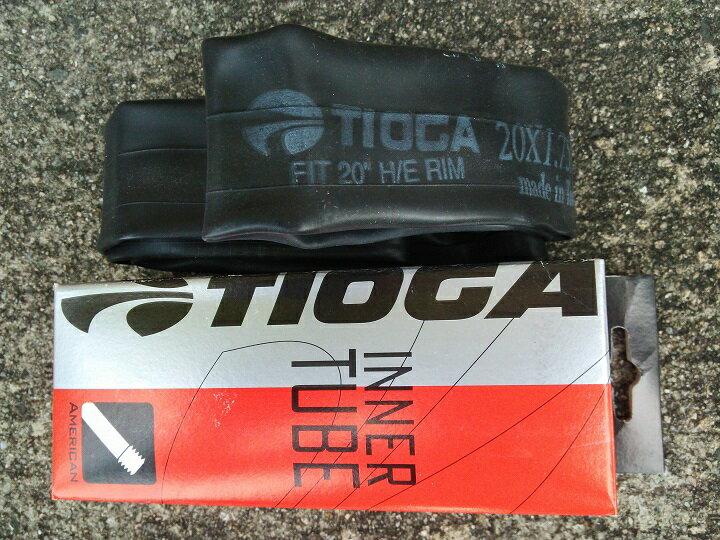 "BMX チューブ【TIOGA (タイオガ) 20""米バルブチューブ 】BMX 20インチ用チューブ /20x1.75""-2.125""チューブ【メール便可能】"