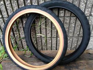 BMX タイヤ 20インチ フラット【HERESY ZEPHYR TIRE / Wire bead 20 x 1.75 blaxk, black/skin】