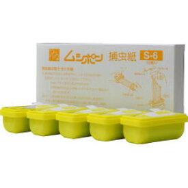 ムシポン捕虫紙S-6 5個入 ムシポリス ムシポンMP-600用捕虫紙 交換カセット