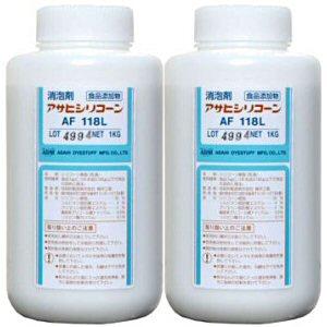 消泡剤 アサヒシリコーン AF118L 1L×2本 食品添加物[排水処理施設・下水・水処理施設]