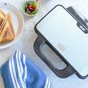 【レシピブック付き】Toffy ホットサンドメーカー 2枚焼き 【耳まで焼ける ホットプレート サンドイッチ 朝食 軽食 朝…