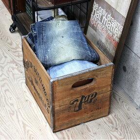 ウッドボックスLサイズ【箱収納BOX収納ボックス小物入れ卓上古材木木製木箱ランドリーボックス片付けブラウン茶シャビーカントリー北欧おしゃれかわいい家具ナチュラルテイスト一人暮らし】【新生活インテリア】