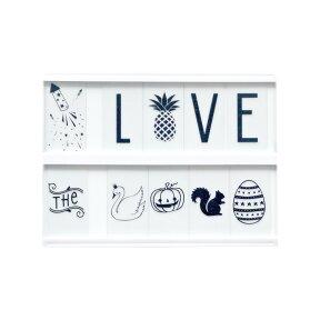 ALittleLovelycompanyLightboxライトボックスA5サイズ【インテリア照明デスクライト間接照明DIYアルファベットハーフバースデーインテリアおしゃれウェルカムボードパーティー飾り照明器具子供部屋結婚式ディスプレイ電気プレゼント】