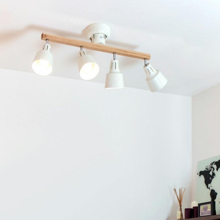 【送料無料・一部地域を除く】シーリングライト LED 対応 スポットライト 4灯 ライトリー[LIGHTLY]ボーベル[beaubelle]|ダイニング用 食卓用 リビング用 居間用 6畳 8畳 おしゃれ 北欧 天井照明 照明器具 寝室 シーリング スポット ライト
