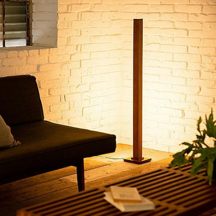照明 LED フロアライト ランバー【ライト リモコン 調光 調色 フロア フロアランプ 間接照明 寝室 照明器具 スタンドライト シアターライティング かわいい おしゃれ 北欧 ナチュラル ブルックリン 一人暮らし 天然木 ウォールナット インテリア】
