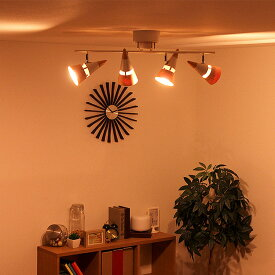 照明 LED 対応 シーリングスポットライト 4灯 ビーク【ブルックリン シーリングライト インテリア照明 リビング照明 天井照明 おしゃれ 一人暮らし 照明器具 北欧 調光 調色 賃貸 モダン おしゃれ かわいい 6畳 7畳 8畳 電気 リビング 新生活】