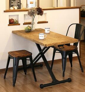 天然木パイン材昇降テーブルブレスダイニングでの使用イメージ