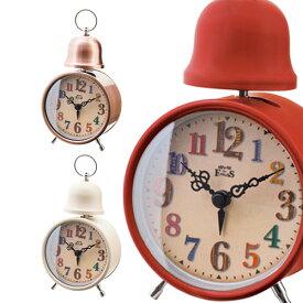 置き時計 アンベルク インターフォルム【目覚まし時計 シンプル ポップ デザイン おしゃれ 一人暮らし プレゼント ポップ 置時計 ミニ アンティーク ブルックリン 西海岸 男前 かっこいい 北欧 アナログ かわいい 目覚まし めざまし時計】