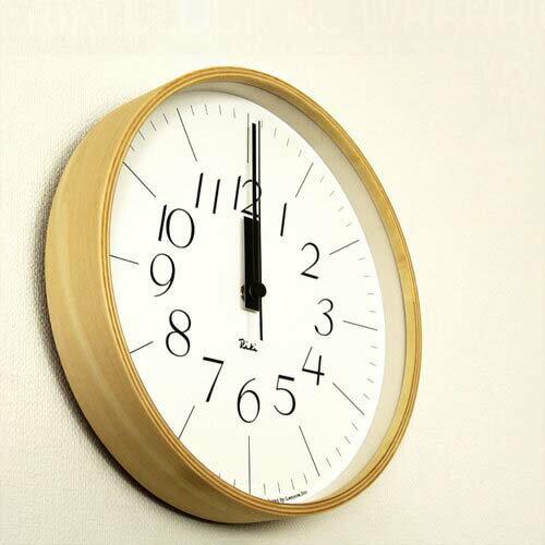 【送料無料】掛け時計 リキクロック 電波時計 RC WR07-10【壁掛け時計 時計 おしゃれ かわいい デザイン 北欧 壁 壁時計 ウォールクロック 壁掛け 雑貨 リビング 電波 電波掛け時計 アンティーク レトロ テイスト 渡辺力 渡辺 力 デザイナーズ インテリア プレゼント】