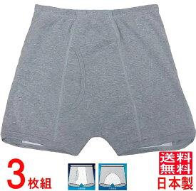 尿漏れパンツ 失禁パンツ 男性用 吸水100cc 【3枚組】 日本製 品番33015