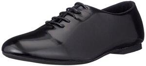 [グラベラ] かかとが踏める靴 バブーシュ メンズ レースアップシューズ エナメル スムース 黒 白 茶 4カラー ブラックエナメル 25.5~26.0 cm