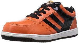 [キタ] 安全靴 作業靴 メガセーフティ 軽量ローカットタイプ MK-7790 オレンジ/ブラック 24.5