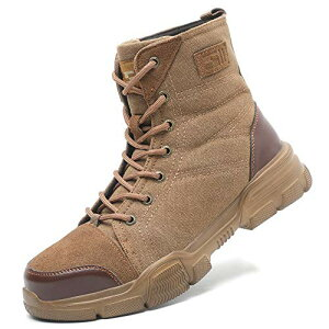 [ブルーポメロ] 安全靴 あんぜん靴 作業靴 スニーカー メンズ レディース 鋼先芯 KEVLARミッドソール 鋼製ミッドソール 軽量 通気 耐摩耗 衝撃吸収 男女兼用 ブラウン 24
