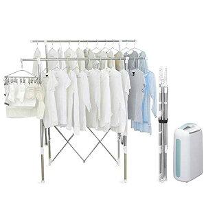 【セット】アイリスオーヤマ 伸縮収納洗濯物干し 約4人用 SSSM-140 + 衣類乾燥除湿機 コンプレッサー式 6.5L IJC-H65