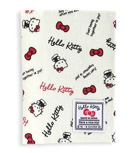 ハロー キティ スタンダードロゴ 旅行用 トラベル パスポートカバー (汚れにくいラミネート加工) ホワイト