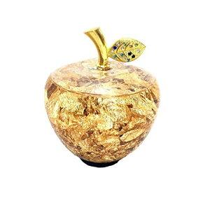 ゴールドアップル 幸運のりんご 敬老の日 誕生日 記念日 お祝い プレゼント ギフト 還暦 退職 女性 男性 贈り物 風水 金運 置物
