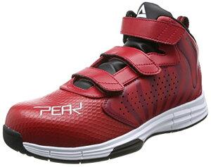 [ピーク] 安全靴 セーフティーシューズ メンズ レッド×ホワイト 30 cm 3E