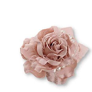 FuliLie コサージュ 花 大きい パール 結婚式 入学式 卒業式 フォーマル ブローチ (ピンク)