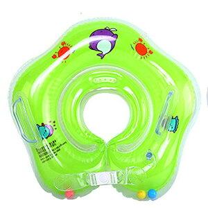 ベビーうきわ 新生児 0-18ヶ月適用 お風呂 水遊び 幼児 出産祝い 浮き輪 おしゃれ プレゼント バスタブ 空気入れ 取手付 Sサイズ (グリーン)