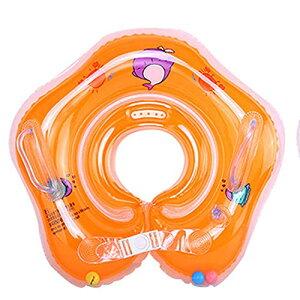 ベビーうきわ 新生児 0-6ヶ月適用 お風呂 水遊び 幼児 出産祝い 浮き輪 おしゃれ プレゼント バスタブ 空気入れ 取手付 Sサイズ (オレンジ)