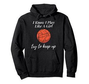 私が知っているバスケットボールのデザイン私は女の子の苦しめられたスポーツのように遊ぶ パーカー