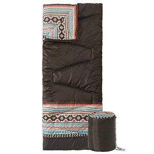 roomnhome(ルームアンドホーム) 寝袋 シュラフ ブラウン 80×190cm コンパクト 室内兼用 アズテック