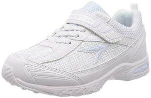 [シュンソク] スニーカー 運動靴 防水 軽量 17~26cm 2E キッズ 男の子 女の子 SJJ 4910 ホワイト/ホワイト 19.0 cm