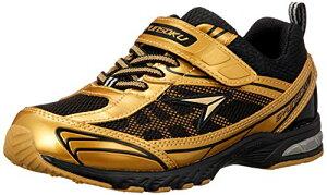 [シュンソク] スニーカー 運動靴 防水 軽量 17~26cm 2E キッズ 男の子 女の子 SJJ 4910 ゴールド 17.5 cm