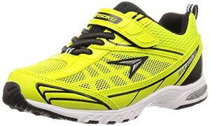 [シュンソク] スニーカー 運動靴 防水 軽量 17~26cm 2E キッズ 男の子 女の子 SJJ 4910 イエローグリーン 20.5 cm