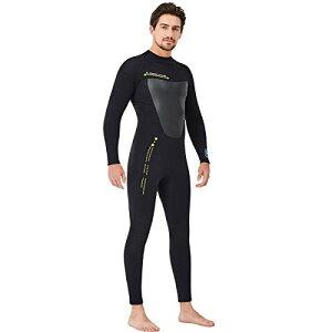 ウエットスーツ メンズ レディース ダイビングスーツ 3mm ネオプレン素材 フルスーツ ダイビング フィッシング バックジップスプリング マリンスポーツ サーフィンウェットスーツ 2XLサイズ
