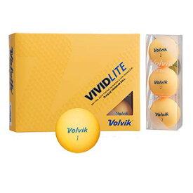 Volvik(ボルビック) ゴルフボール VOLVIK VIVID VOLVIK VIVID LITE シャーベットオレンジ (1ダース) オレンジ
