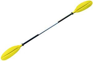 MORGEN SKY パドル カヤックパドル ダブルプレード アルミパドル 2ピース分割 kayak用 親子揃い ツーリング フィッシング ボートオール アルミ合金 軽量 収納便利 BR01 (黄色-大人220cm)